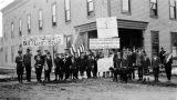 Boy scouts selling liberty bonds. Fairbanks, Alaska.