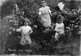 Faibanks children picking wild lilies.