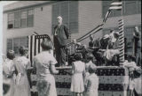 Dr. Bunnell addressing a crowd in Palmer, 1936.