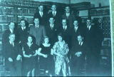 Organization meeting of Alumni Association - about 1930 - in Library of Old Main.