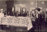Tea in home economics lounge - 1929.