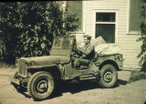 Jeep in front of Main Dorm - 1944.