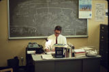 University of Alaska employee in his office, October 1969.