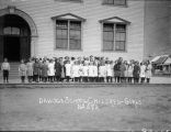 Dawson school children - girls.