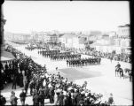 Military parade in San Francisco, [1903?].