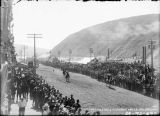 First mule race in Dawson. May 24, 1900.