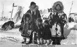 Family in Eskimo clothes