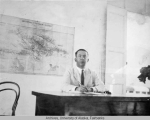 Gruening at his desk in Haiti