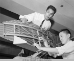 RCA students inspect an antenna