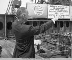 Keel laying of SS Alaskan Mail