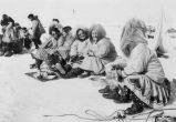 Women spectators at whaling camp