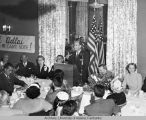Aldlai Stevenson speaks to a group