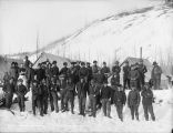 Soldiers and packers at Tonsina Camp