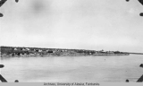 View of Fort Yukon from steamer.