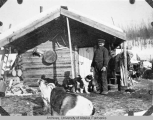 Log cabin of George, a white man on the Tanana