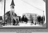 Catholic church and hospital, Fairbanks.