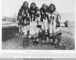 Four Eskimo girls near Cape Nome, Alaska