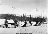 1905, gold propectors headed for Fairbanks.