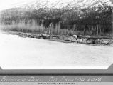Storage dam on Eklutna Lake.