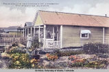 Residence and Garden of J. W. Brown.  Fairbanks, Alaska.