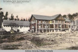 Hotel and natatorium at Manley Hot Springs, Alaska.