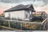 Residence and garden of R. C. Wood, Fairbanks, Alaska.