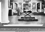 Interior of Russian Church, Sitka.