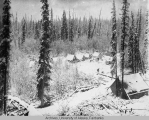 Camp at Lower Tenderfoot after snow