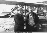 Larry L. Hagan & King Baird's plane Milotte July '36.