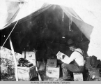 Headquarters tent, construction camp