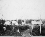 Construction camp at junction of winter and summer trails
