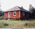 Railroad building at Chokosna between Chitina & McCarthy, 8/84.