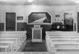 Interior of the 'basement' church [First Baptist Church].