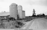 Silos and barn at Creamer's Dairy.