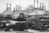 Three vessels in dry dock: Klondyke, Portus B. Weare, John Cudahy.