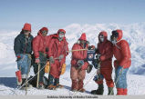 On summit of Mount Bona: Norm Benton, West, Fire, Ed Boulton, Galen McBee, Herb Staley (left to...