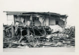 Building destroyed in Anchorage after the 1964 earthquake.