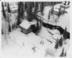 Aerial view of homes in the Turnagain neighborhood, 28 March 1964.
