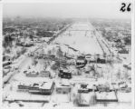Aerial photograph looking east over Park Strip area, 28 March 1964.