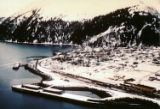 Town of Seward Alaska, taken from an H-21 in 1963.