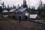Indian cemetery in the Yukon.