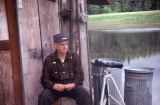 Mr. Price, old timer by his cabin, Admiralty Island.