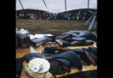 Muktuk on a table at the Point Hope Whale Festival.