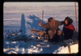 Ice fishing in Kotzebue, 1972.