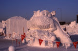 Snow sculpture, Fur Rondy.