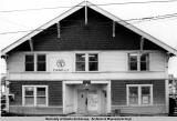 Exterior of Alaska Native Brotherhood Hall, Sitka, April 11, 1975.