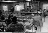 BLM ANCSA hearings in the Alaska Native Brotherhood hall, Juneau, 1975.