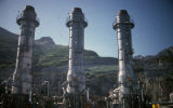 Part of the Alyeska pipeline terminal facilities at Valdez.