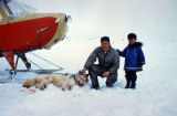Pt. Barrow, AK. Eskimo w/ wolf catch.