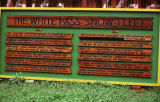 The White Pass Snow Fleet sign.